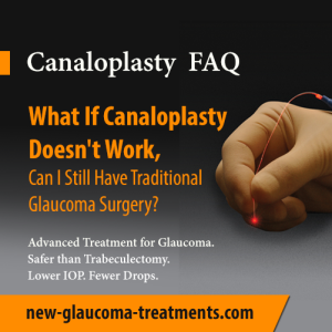 What If Canaloplasty Doesn't Work, Can I Still Have Traditional Glaucoma Surgery