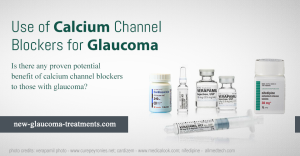 Use of Calcium Channel Blockers for Glaucoma