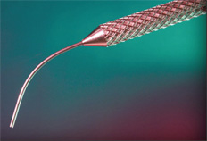 ECP treatment with a curved probe.