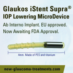 Glaukos iStent Supra® Is Now Awaiting FDA Approval