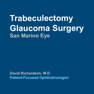 Trabeculectomy Glaucoma Surgery