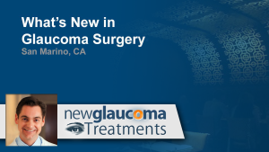 What's New in Glaucoma Surgery