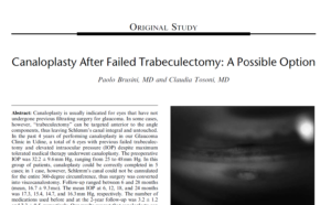 Canaloplasty After Trabeculectomy A Possible Option